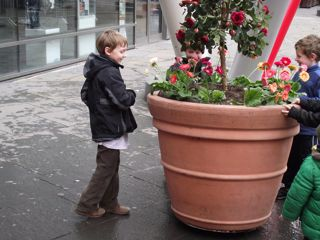 Luke with Radio controlled flower pot